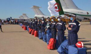 وصول طائرة مساعدات جزائرية الى المطار image