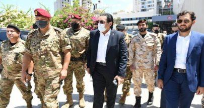 السفير القطري تفقد وقائد الجيش المستشفى الميداني القطري في مستشفى الروم image