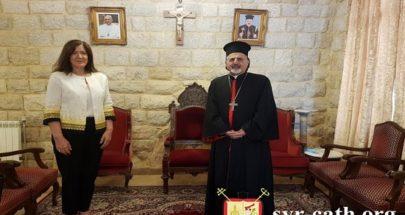 البطريرك يونان يستقبل سفيرة الولايات المتّحدة الأميركية في بيروت دوروثي شيا image