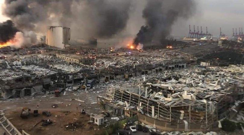 بالصور: هكذا بدا مرفأ بيروت بعد أسبوع من الانفجار image