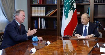 الرئيس عون التقى المدير التنفيذي لبرنامج الأغذية العالمي image