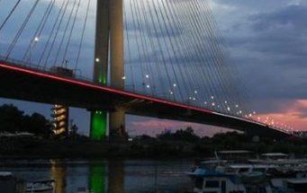 بلغراد تتألق بالوان العلم اللبناني image