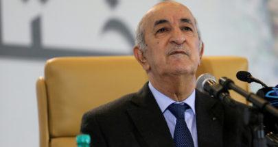 """الرئيس الجزائري: لن نشارك ولن نبارك """"الهرولة إلى التطبيع"""" image"""