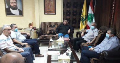 حزب الله في صيدا عرض مع وفد من جمعية الشفاء سبل التعاون لمكافحة كورونا image