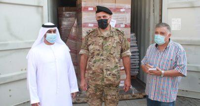 1155 طنا من المساعدات الطبية والغذائية من الإمارات إلى لبنان image