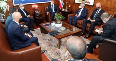 اللواء إبراهيم يستقبل وزير الداخلية الألباني image