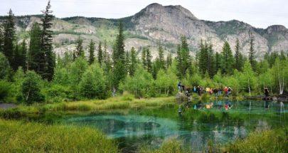 روسي من جنوب سيبيريا يعثر في غابة على نيزك يقدر عمره بـ4.5 مليار عام image