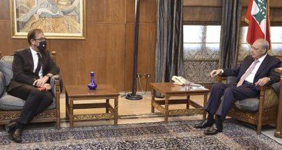 بري استقبل السفير الفرنسي في زيارة وداعية image