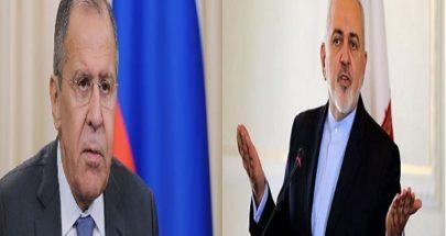 لافروف يطلب من ظريف تسهيل تشكيل الحكومة في لبنان بأسرع وقت image