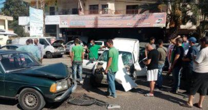 ثلاثة جرحى في حادث سير عند مرج حاروف زبدين image