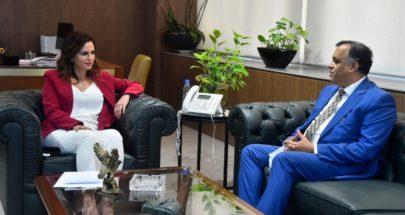 عبد الصمد عرضت وسفير الهند مجالات التعاون واستقبلت فرحات image