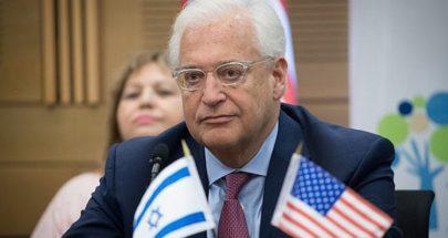 """فريدمان يطمئن إسرائيل: الإمارات لن تتسلم """"إف-35"""" إلا بعد 6-7 أعوام image"""