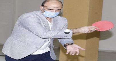 """بالصور وزير الصحة يلعب """"البينغ بونغ""""... هل التزم تدابير الوقاية؟ image"""