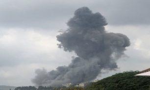 بالصور والفيديو... إنفجار قوي يهز بلدة عين قانا الجنوبية image