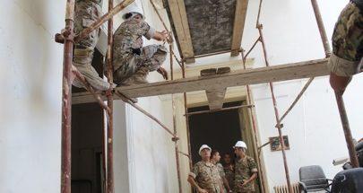 الجيش: تأمين مبنى وزارة الخارجية المتضرر جراء الانفجار بتدعيم سقفه image
