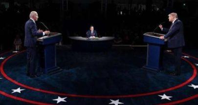 """مناظرة """"مشتعلة"""" بين ترامب وبايدن واشتباك من الدقيقة الأولى! image"""