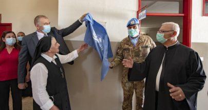 الكتيبة الايطالية أنهت أعمال ترميم في مدرسة في رميش image