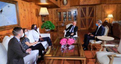 فرنجيه يستقبل في بنشعي السفيرة الاسترالية في لبنان image