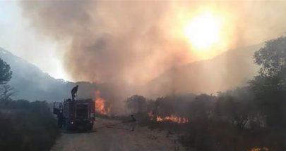 إخماد الحريق في مرج بسري image