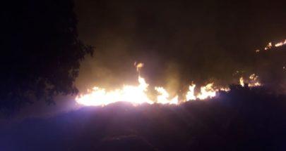 حريق في بلدة عيات العكارية والدفاع المدني يعمل على إخماده image
