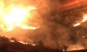 إخماد حريق امتد إلى خراج بلدات قهمز وميروبا وعين الدلبة ووطى الجوز والمشاتي image