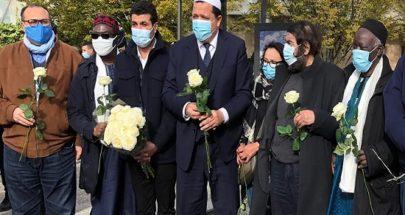 """إمام مسجد في فرنسا يصف المدرس المقتول بـ""""شهيد حرية التعبير"""" image"""