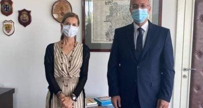 درويش بحث مع سفيرة ايطاليا في لبنان التنمية الاقتصادية ودعم قطاع التعليم image