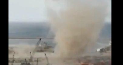 وكأن الانفجار لا يكفي... زوبعة هوائية تضرب مرفأ بيروت! image