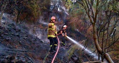 إخماد حريق في حرج في كسروان image