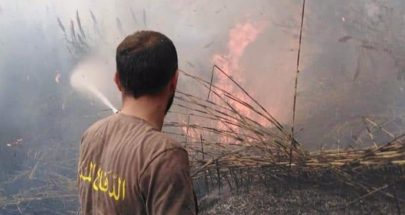 الدفاع المدني اخمد سلسلة حرائق في عكار image