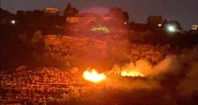 حريق في بقاعصفرين ـ الضنية وجهود لإهماده image