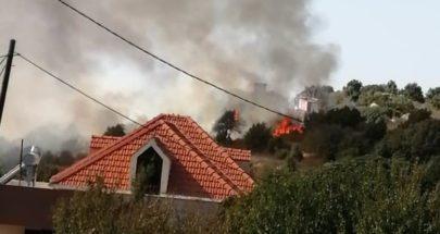 حريق قرب منازل في بلدة الدوق البترونية image