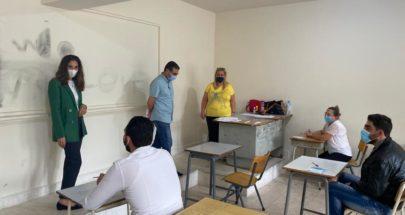 هنادي بري تفقدت مراكز إمتحانات الإجازة الفنية LT في الدكوانة image