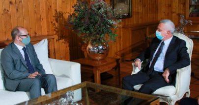 فرنجيه يستقبل سفير النمسا في دارته في بنشعي image