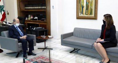 عون استقبل السفيرة الأميركية في لبنان... هذا ما جرى عرضه image
