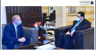 دياب استقبل السفير الروسي وعرض مع وفد من البنك الدولي المشاريع الممولة منه image