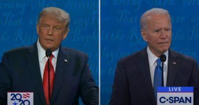في مناظرتهما الأخيرة... اتهامات متبادلة بين ترامب وبايدن image