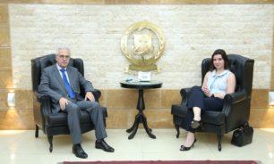العميد خطار يستقبل سفير قبرص في لبنان image