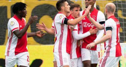 فوز تاريخي لأياكس في الدوري الهولندي بـ13 هدفا image