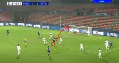 الروسي ميرانتشوك يسجل هدفا رائعا في أول ظهور بقميص أتلانتا الإيطالي image