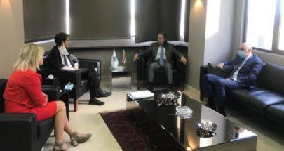 وزني استقبل ممثل مدير عام المالية الفرنسية image