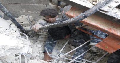 بالصور.. جرحى بانهيار بناء من 6 طوابق في ريف دمشق image