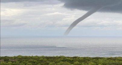 تنين بحر أشبه بإعصار قبالة خلدة! image