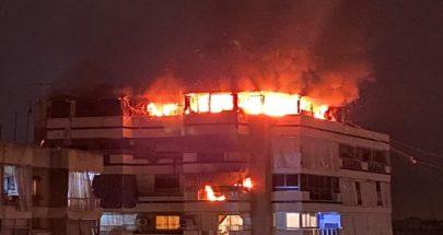 بالفيديو: حريق في إحدى الشقق في زقاق البلاط image