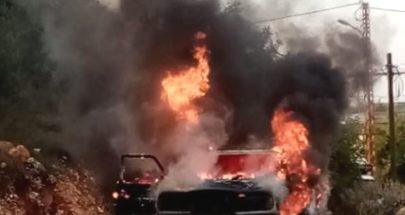 احتراق سيارة على طريق بينو الزيرة image