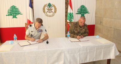 توقيع اتفاقية بين الجيش اللبناني والجيش الفرنسي image