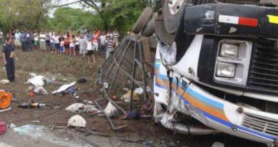 مصرع 16 شخصاً بانقلاب شاحنة في نيكاراغوا image