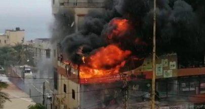 حريق داخل غاليري في الاوزاعي image