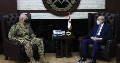 قائد الجيش استقبل امين عام المجلس اللبناني السوري image
