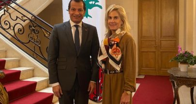 سفير لبنان في فرنسا رامي عدوان يستقبل زميلته الأميركية image